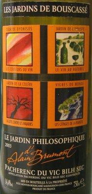 The willetts on wine les jardins de bouscass le jardin for Le jardin high wine
