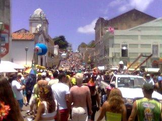 Chegando em Olinda já temos que enfrentar as ladeiras.