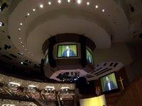 Senior Minister Dave Stone on screen