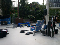 Palm House, setting up