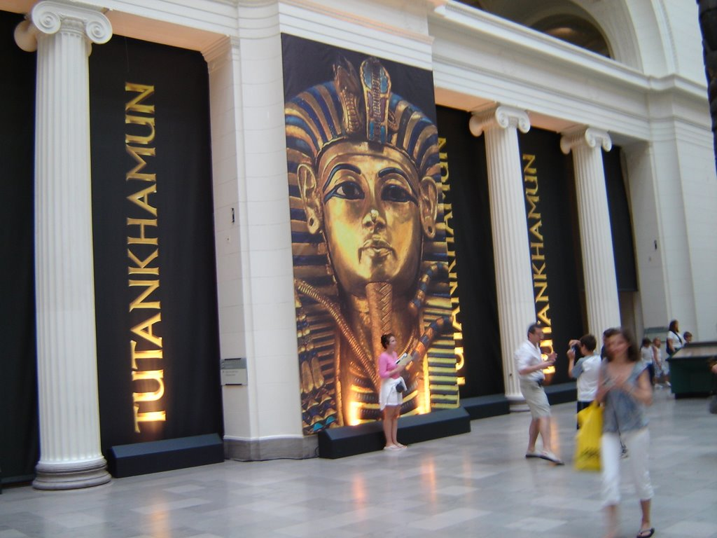 The exhibit boasts more than 130 treasures from the tomb of King Tut ...