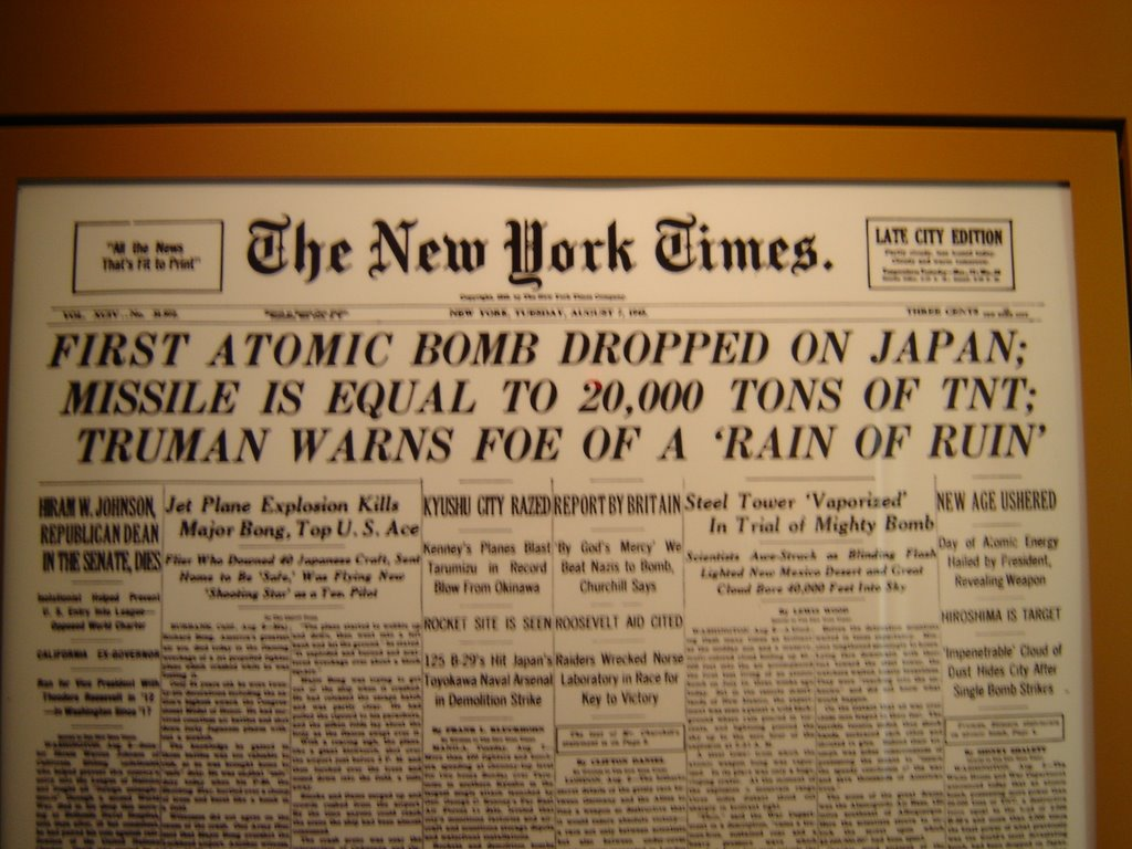 should the united states have dropped The united states, then, dropped the bombs to end the war that japan had unleashed in asia in 1931 and extended to the united states at pearl but at the time.