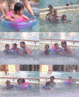 anak2 main di kolamrenang