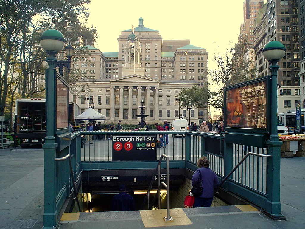 Boroughed Downtown Brooklyn Borough Hall
