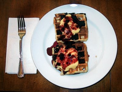 Blueberry-Lemon Waffles