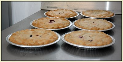 Fresh-baked pies