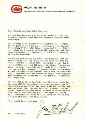 Shep Letter