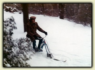 Elisson rides the Ski-Cycle of Death