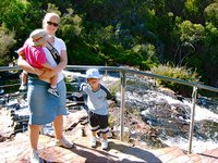 The family at McKenzie's Falls at the Grampians, Victoria