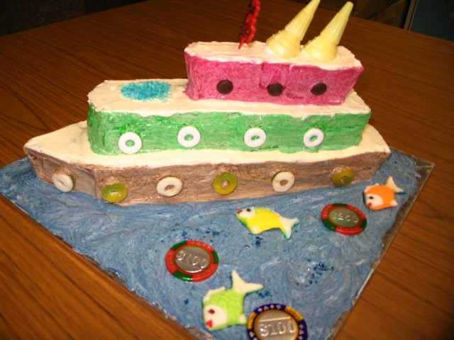 Cakes And Cookies Specials Cruise Ship Cake - Cruise ship cake