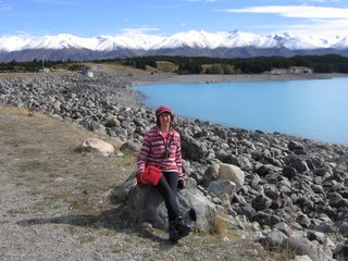 Photo by Cloud: Lisa Rullsenberg at Lake Pukaki, New Zealand