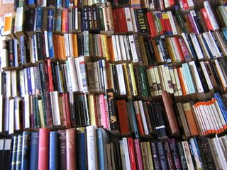 Photograph by Cloudy Neil: a bed full of fiction books