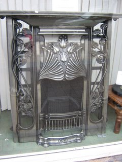 Photograph by Rullsenberg: Art Nouveau fireplace
