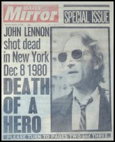 John Lennon Death Headline