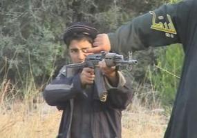 muslim child with gun