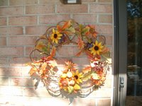 The wreath for the fall I made several years ago.