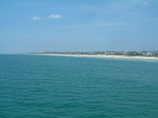 View of the beach from the fishing pier we visited.