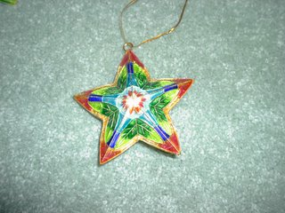 Cloisonnè Star that I got for a gift.