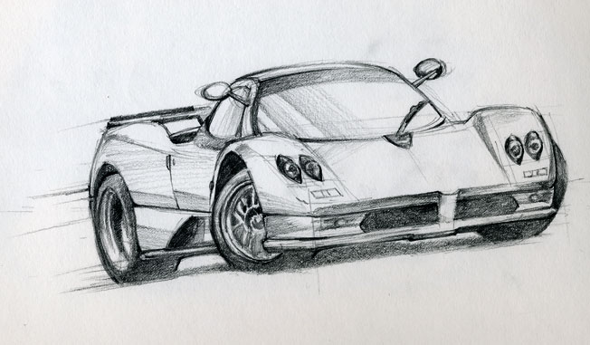 Cars drawings