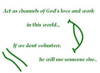 God's love, Volunteer