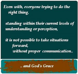 Communication,God's Grace,Doing the right thing