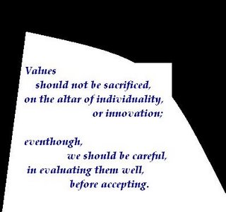 Values ,Individuality ,Innovation