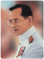The king of Thailand Bhumibol Adulyadej