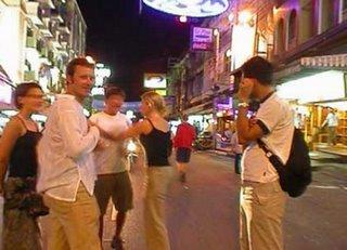 Hanging out in Khaosarn Road Bangkok Thailand