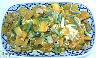 Thai stir-fried pumpkin, Pad Phuk Tong