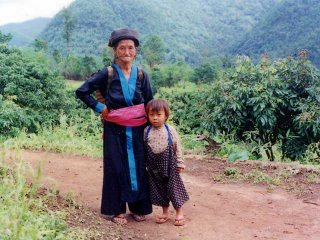 Hilltribe Kid with mother