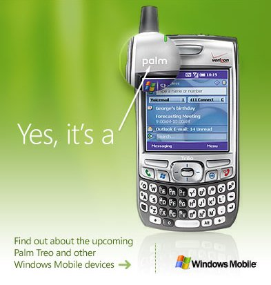 Palm running Microsoft Windows Mobile