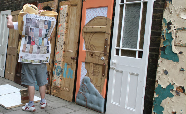 SalvoFAIR Reclaimed doors at Clerkenwell & SalvoNews: SalvoFAIR: Reclaimed doors at Clerkenwell