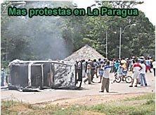 Protestas en La Paragua