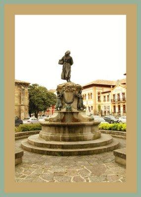 Mariano Belliure y Gil: Monumento a Obdulio Fernández (1927-1932). Vista general del Monumento y del espacio al que se dirige.