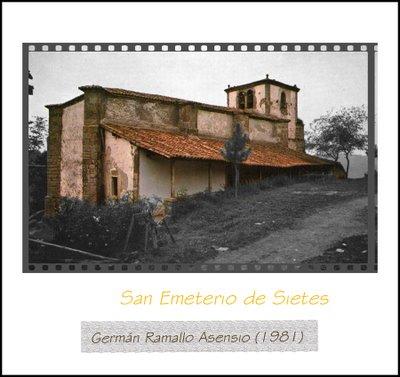Estado de conservación de San Emeterio de Sietes, Villaviciosa, en 1981