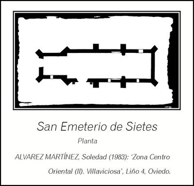 Planta de San emeterio de Sietes, Villaviciosa