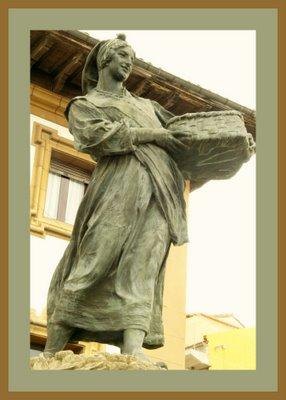 Mariano Belliure y Gil: Monumento a Obdulio Fernández (1927-1932). Detalle de la 'manzanera', principal protagonista del conjunto monumental.
