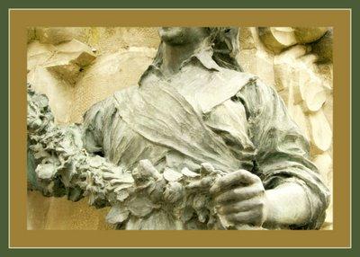 Mariano Belliure y Gil: Monumento a Obdulio Fernández (1927-1932). Detalle del busto de la aldeana. Compárese con la fotografía núm. 18 de la otra campesina, para observar aquí también las diferencias personales con aquella.