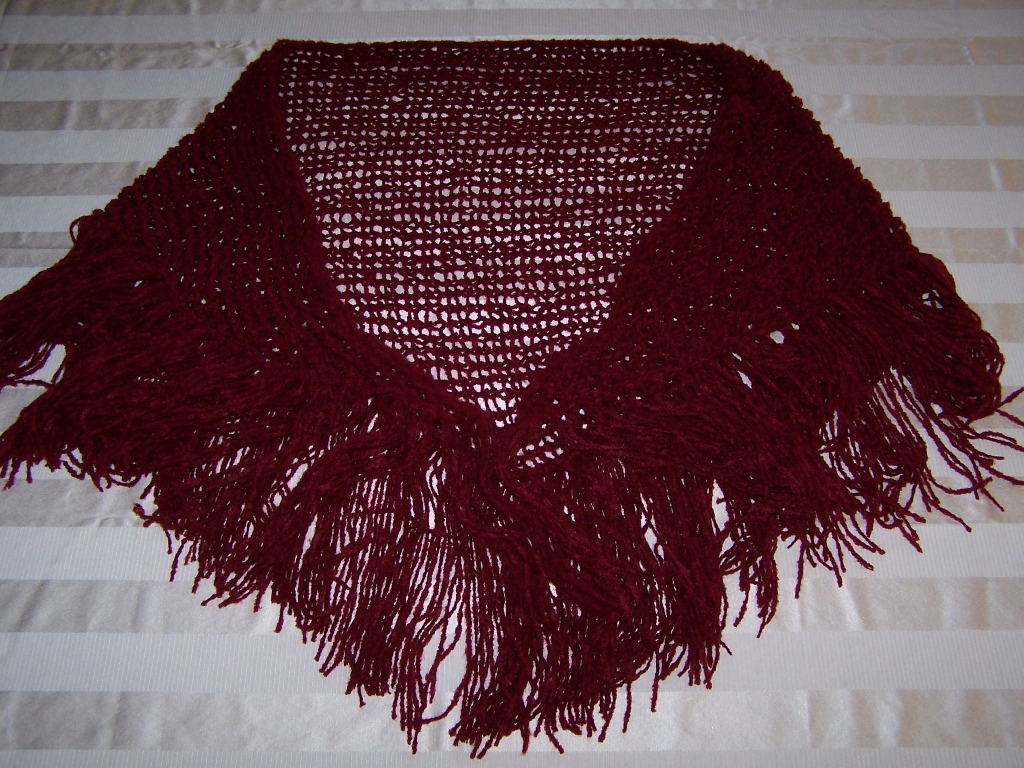 Off the Loom: completed triangle shawl