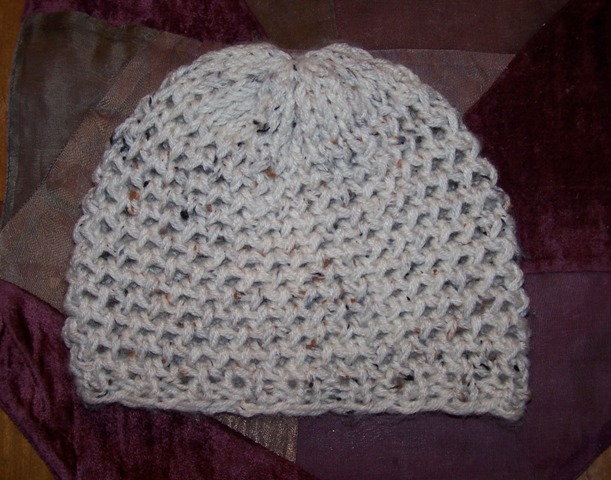 Crocheting On A Loom : Off the Loom: Completed Mock Crochet Hat.
