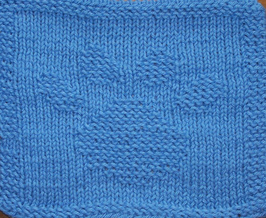 Off the Loom: pawprint dishcloth