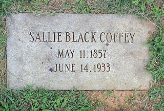 Sallie Black Coffey Headstone