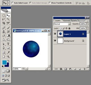 learn how to create a blueberry in photoshop with this tutorial