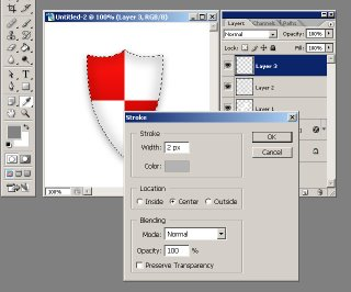learn how to create a coloured kite shield in photoshop with this tutorial