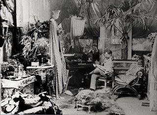 Mucha in his studio