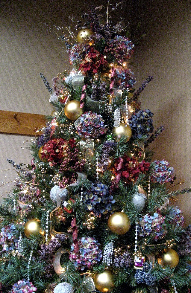Perennial passion hydrangea christmas tree How to hang garland on a christmas tree