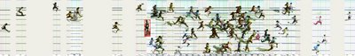 Men's 400m, 2005 World Championships (click to enlarge)
