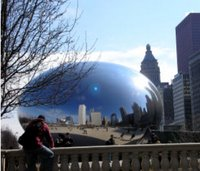 New Reflecting Cloud in Millenium Park
