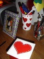 más corazones por el escritorio