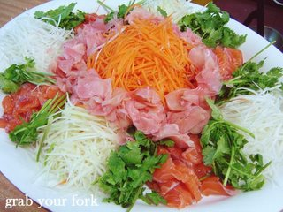 Chinese New Year yee sang salad